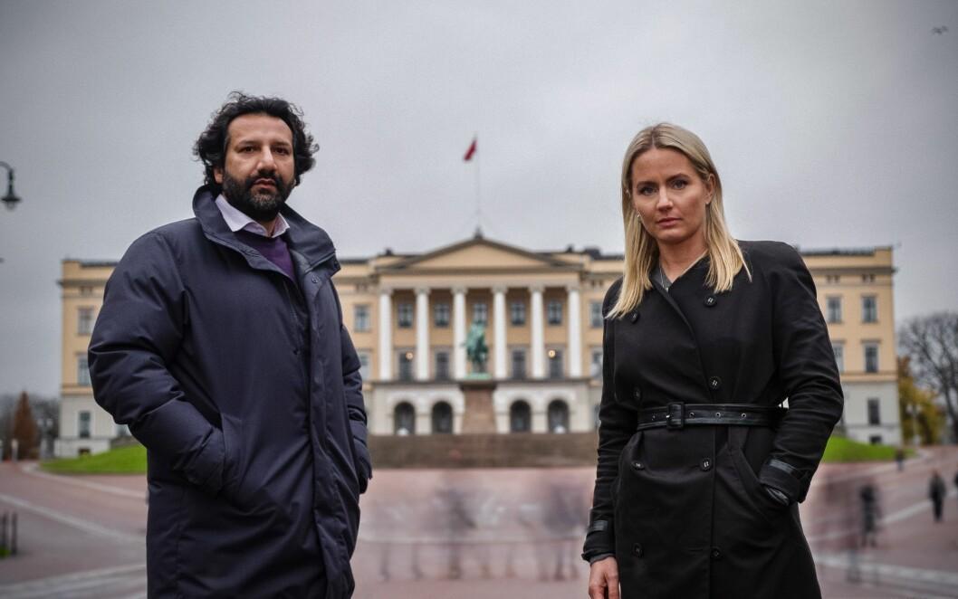 Janne Amble og Kadafi Zaman er klar for en ny sesong av Norge bak fasaden.