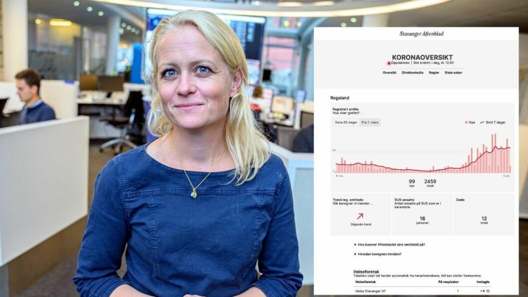 Stavanger Aftenblad lanserte i går sin koronaoversikt i ny drakt. Det mener digitalredaktør Elin Stueland var på høy tid.