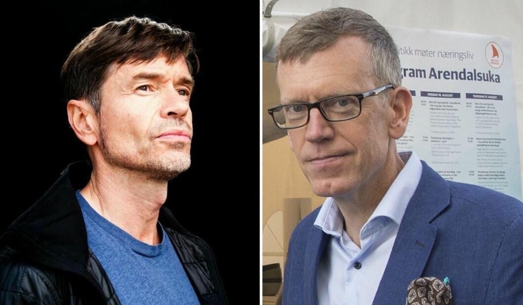 Skribent og sosiolog Kjetil Rolness og politisk redaktør Kjetil B. Alstadheim i Aftenposten.