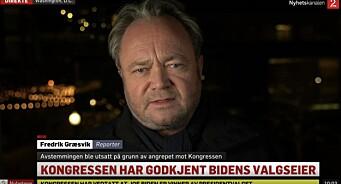 Kaoset i Washington ryster TV 2-profil Fredrik Græsvik: – Helt vanvittig
