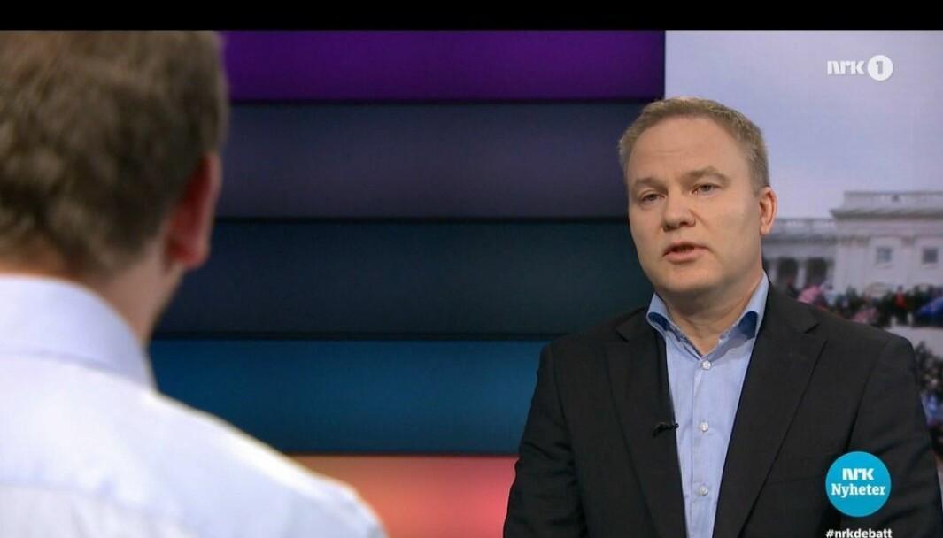 Helge Lurås stilte til Debatten mot Rødt-politiker Mimir Kristjansson.