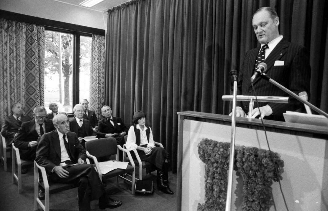 Fredrikstad i 1980: Institutt for Journalistikk ble åpnet. Foto: Jan Tore Glenjen / NTB