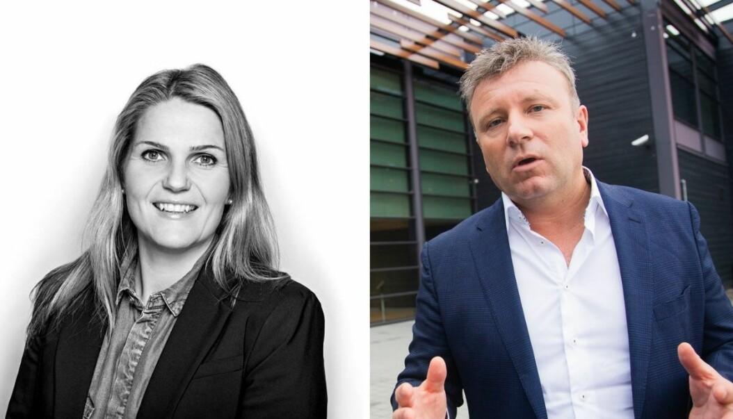 Språksjef i NRK, Karoline Riise Kristiansen og sjefredaktør Vebjørn Selbekk i den kristne dagsavisen Dagen.