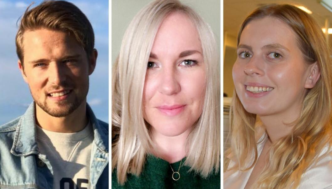 Alexander Sætre (27, Anita Bakk Henriksen (36) og Eveline Røsholt-Hansen er ansatt som nye frontsjefer i Avisa Oslo.