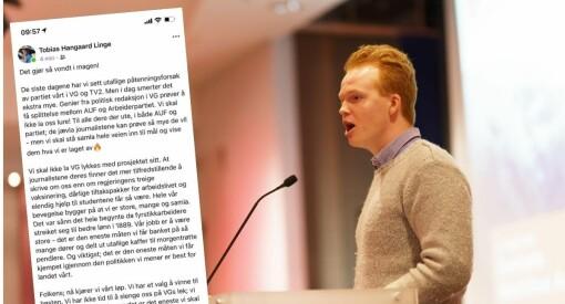 AUF-leder mener VG angriper partiet: – De jævla journalistene kan prøve så mye de vil