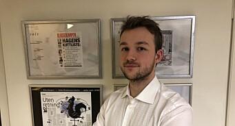 Andreas Haakonsen (27) er VGs nye politiske reporter