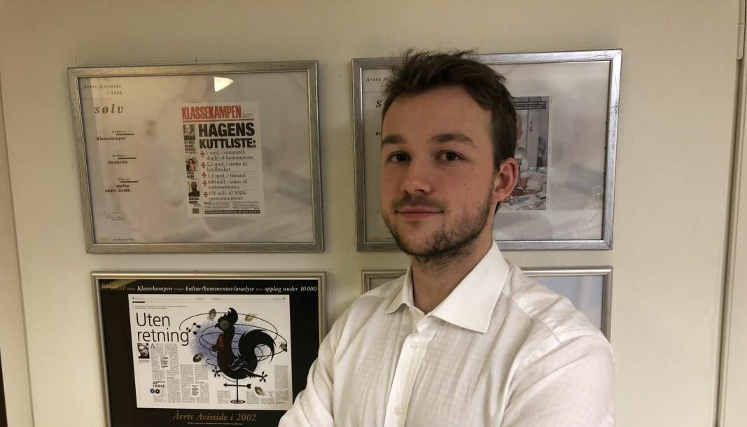 Andreas Haakonsen går fra Klassekampen til VG.