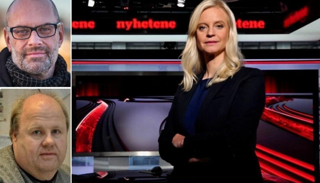 Distriktssjef i NRK Sørlandet, Morten Rød, redaktør i Lillesand-Posten Thor Børresen og nyhetsredaktør i TV2, Karianne Solbrække.