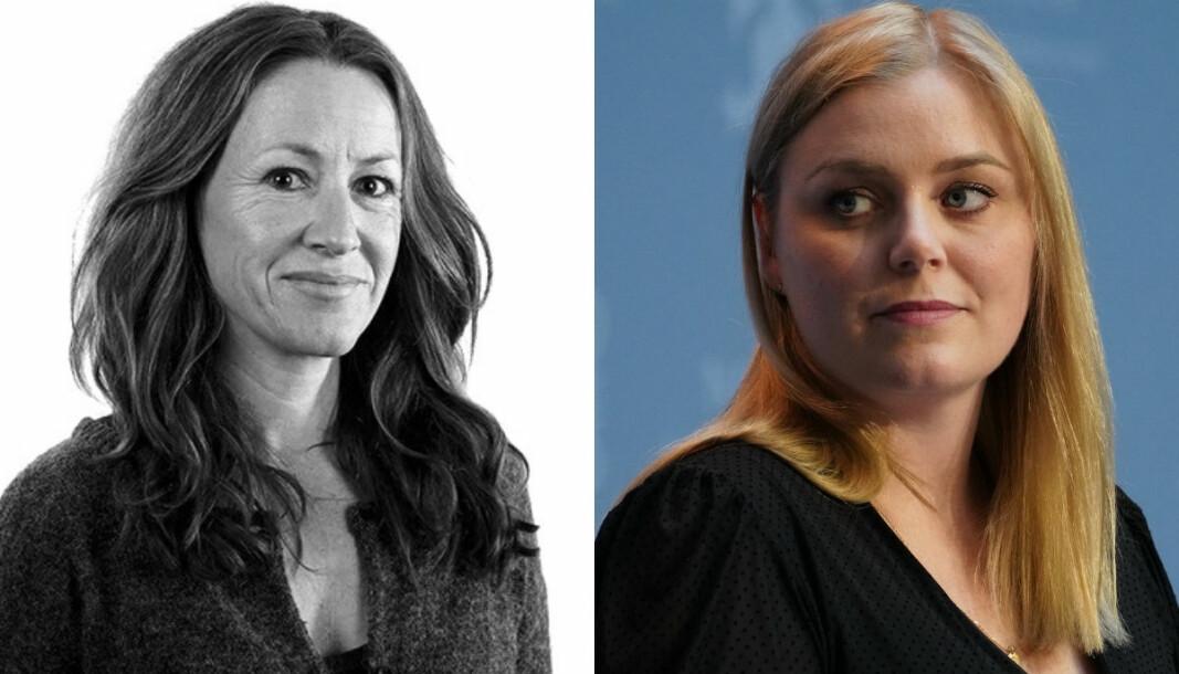 Olje- og energiminister Tina Bru (H) er lite fornøyd med en artikkel skrevet av Aftenposten Innsikt. Redaktør Tine Skarland forsvarer derimot magasinets sak.