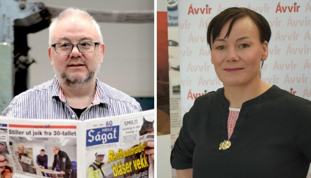 Redaktørkollegene Geir Wulff og Kari Lisbeth Hermansen i henholdsvis Ságat og Ávvir, liker dårlig at en ny aktør får samisk pressestøtte, uten at den totale potten økes.
