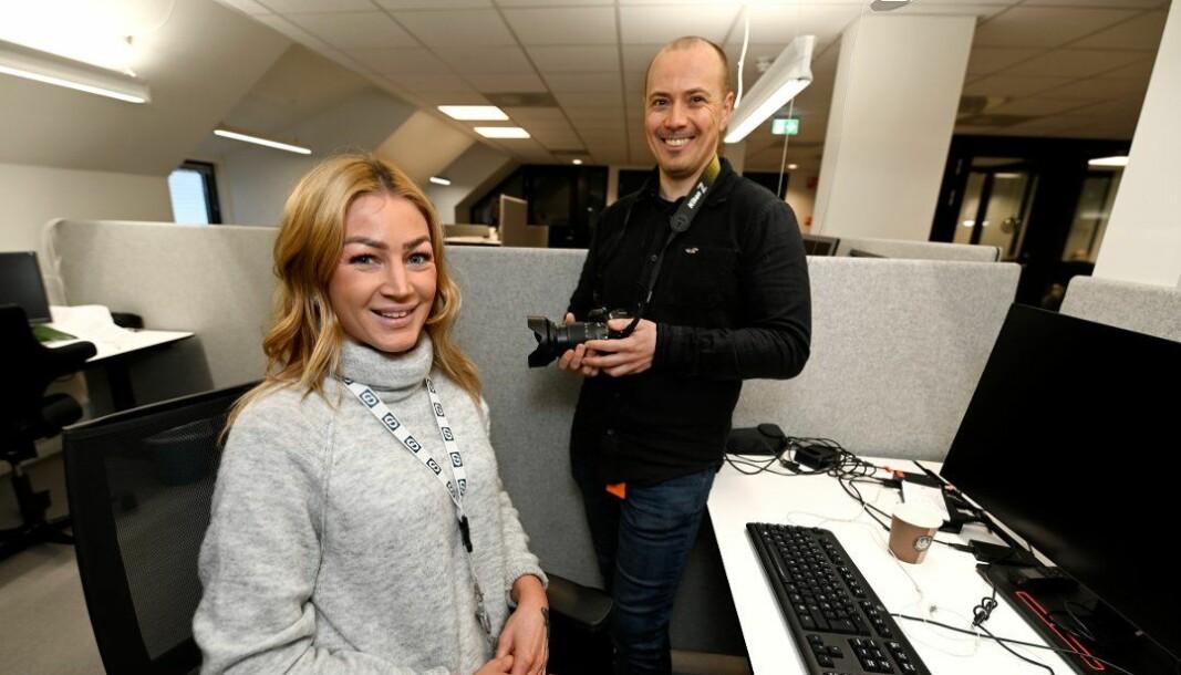 Elin Moen og Jørn Hindklev er to av fem nye journalister i Gudbrandsdølen Dagningen.