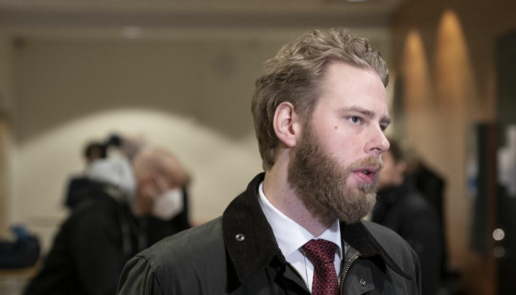 Journalisten Henrik Evertssons møtte i Göteborgs tingsrätt mandag