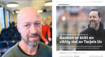 NRK-programleder dukket opp i bank-reklame: – Skvatt skikkelig