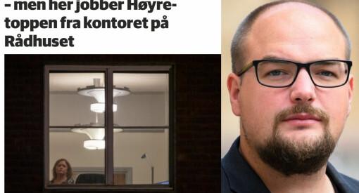 Er det virkelig en sak for Avisa Oslo at en politiker trosser påbud om hjemmekontor? Ja, det er det