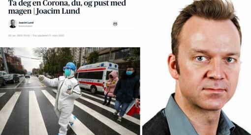 For ett år siden skrev Aftenposten-kommentatoren at det var «ingen stor grunn» til å være redd korona: – Kan se bagatelliserende ut