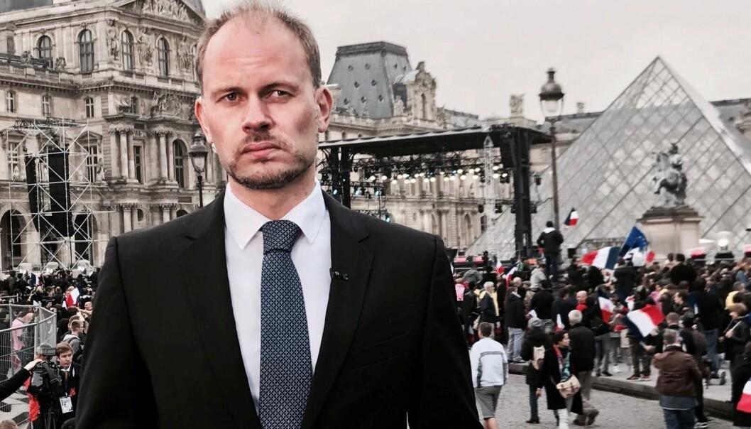 Philip Lote i Paris, under presidentvalget i 2017.