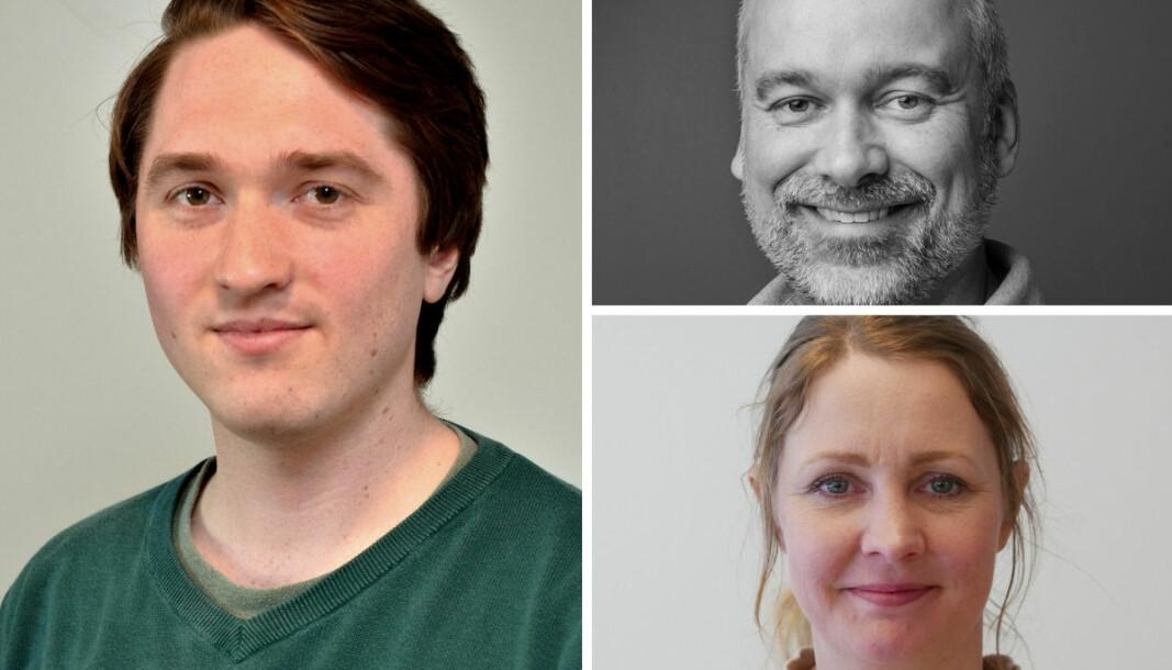 Fra venstre: Jakob Ellingsen, Lars Toverud og Gry Catinka Wold, tillitsvalgte i henholdsvis Polaris, NRK og Mentor Medier.