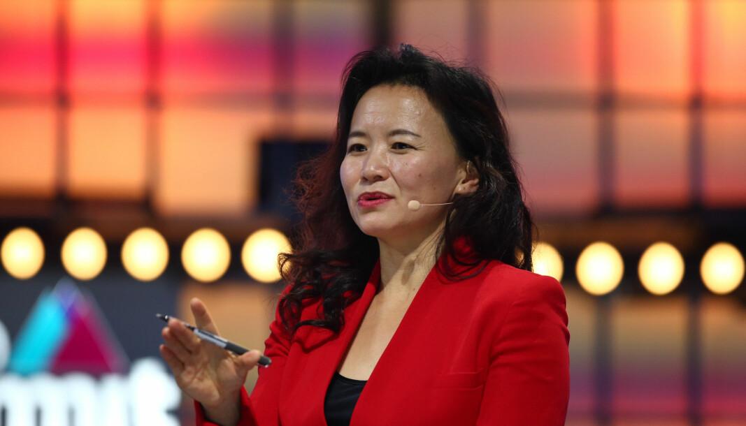 Cheng Lei avbildet under Web Summit i 2019.