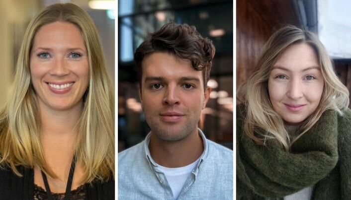 Maria (33), Lauritz (25) og Fanny (30) har fått jobb i TV 2 Nyhetene