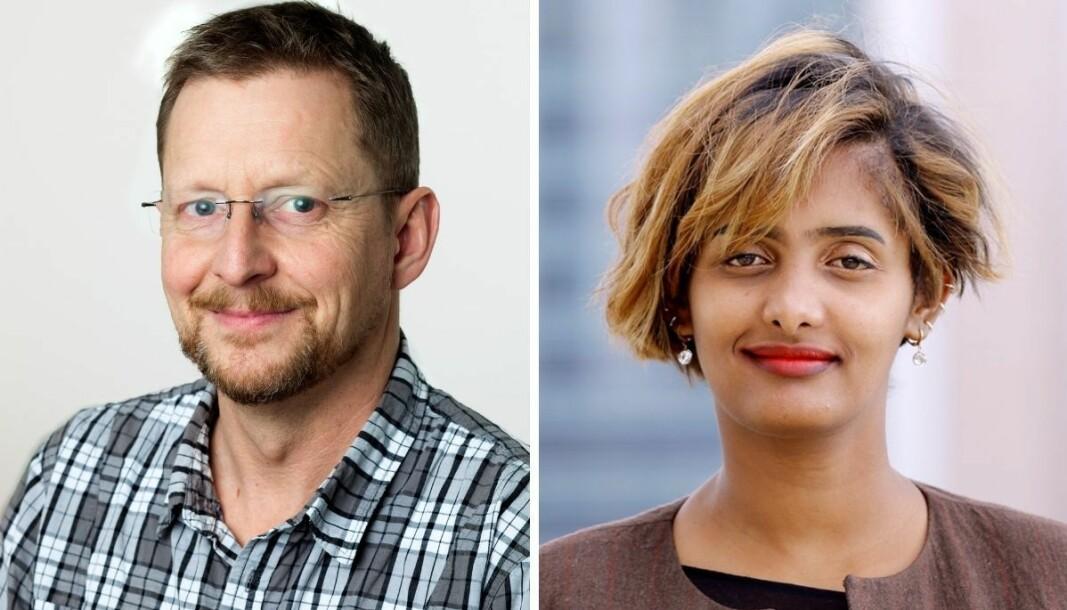 Bistandsaktuelt-redaktør Gunnar Zachrisen (til venstre) er fortvilet over situasjonen til sin korrespondent Lucy Kassa.
