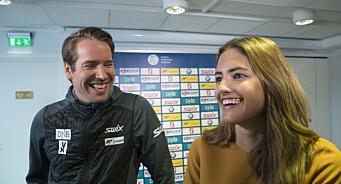 Nå skal kjendisparet jobbe sammen i NRK Sport: – Hyggelig med et kjent fjes