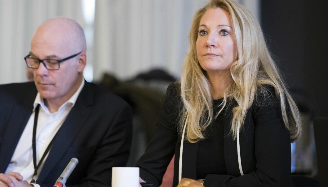 Kringkastingssjef Thor Gjermund Eriksen og rådsleder Julie Brodtkorb. Foto: Håkon Mosvold Larsen / NTB
