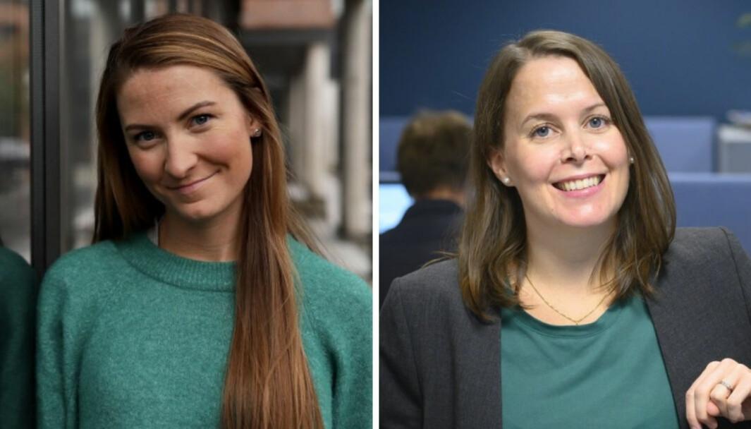 Leder for sosiale medier i Adresseavisen, Eirin Larsen, og politisk redaktør Siv Sandvik.