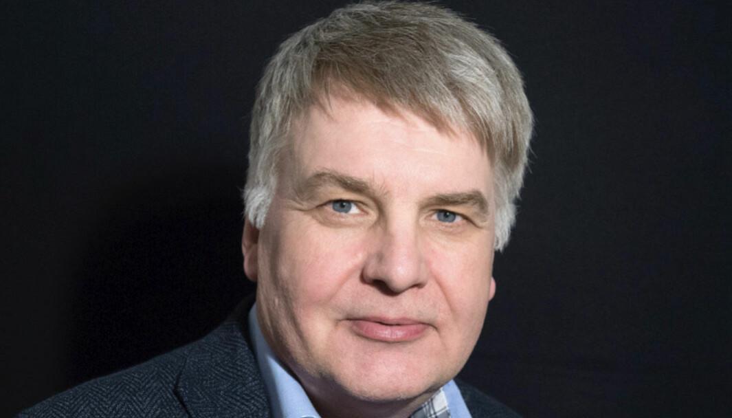 Redaktør Erik Sønstelie i Oppland Arbeiderblad.