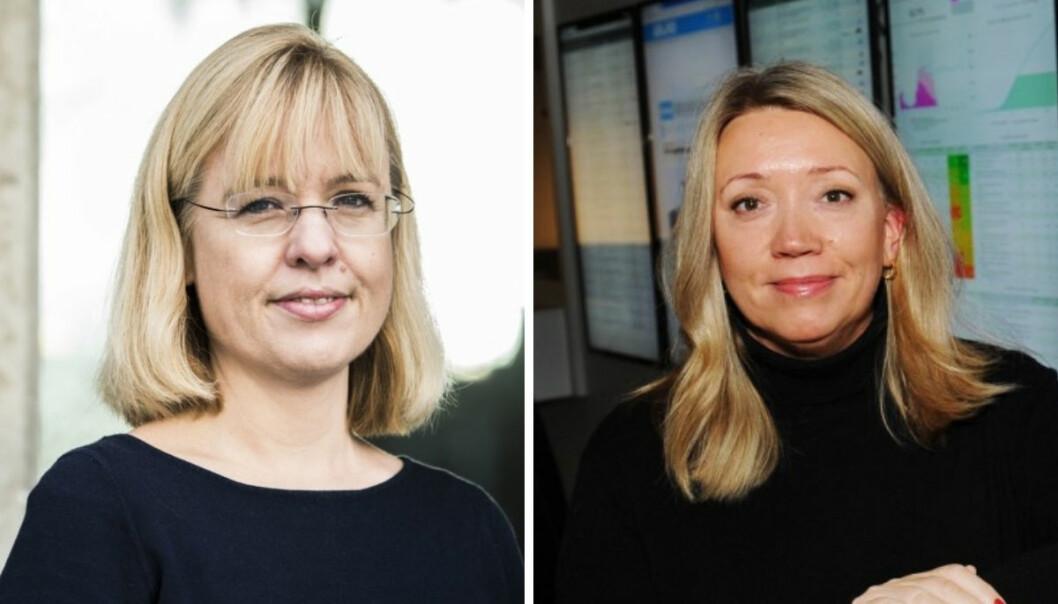Språkrådets direktør Åse Wetås (t.v) er ikke fornøyd med en sak NRK Nordland publiserte denne uken. Distriktsredaktør Vibeke Madsen beklager.
