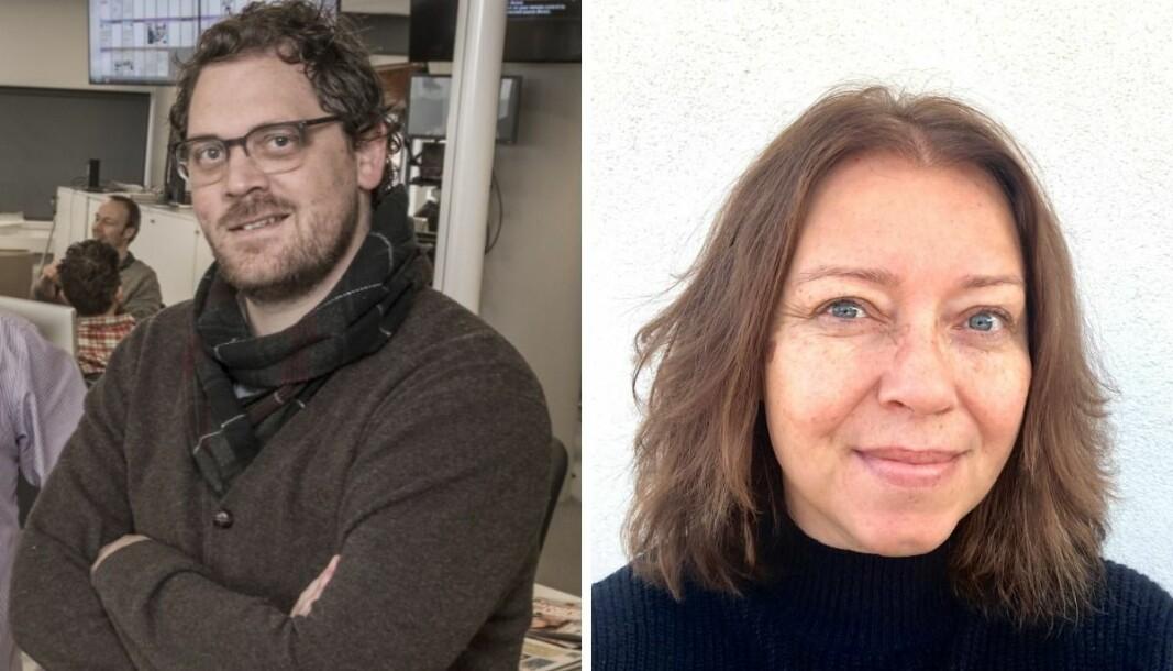 Klubbleder i Dagbladet, Anders Holth Johansen og klubbleder i Aller, Sonja Nordanger.