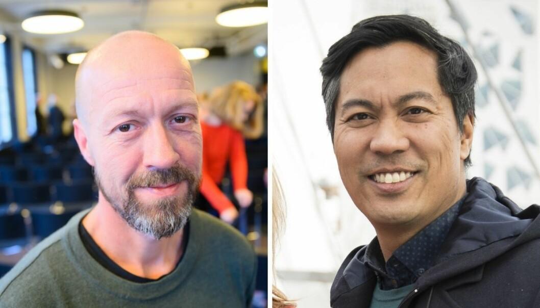 Etikkredaktør i NRK, Per Arne Kalbakk og NRK-profil og programleder for Sløsesjokket, Christian Strand.