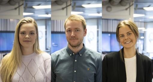 Hannah (28), Jon (31) og Ida (23) er ansatt som nyhetsjournalister i P4