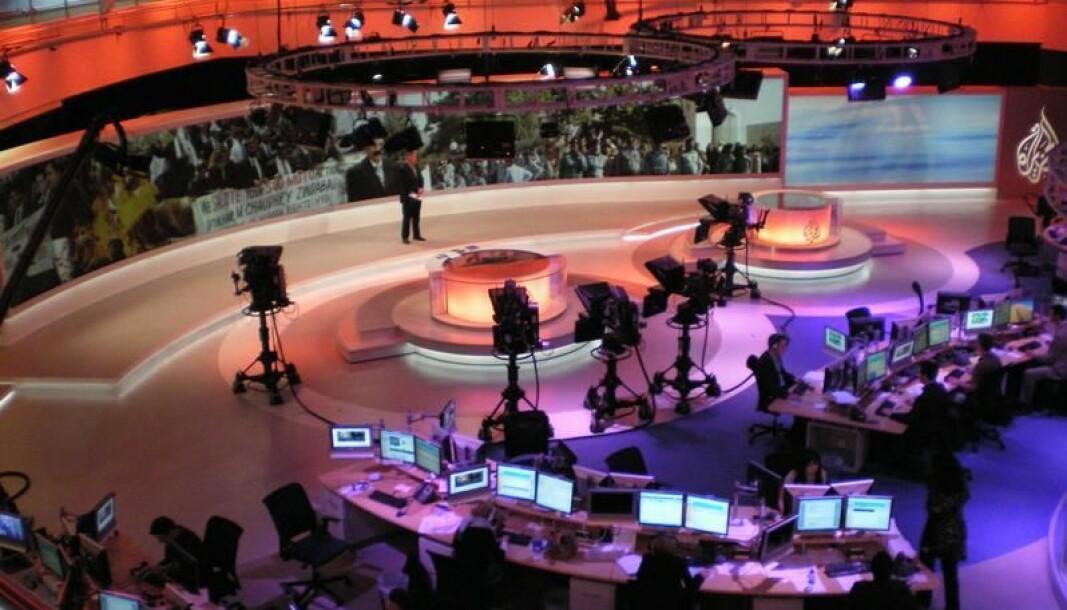 Al Jazeeras newsroom i Doha.