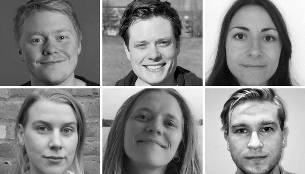 Aftenpostens seks nye Oslo-journalister: Øystein Tronsli Drabløs (øverst fra venstre), Magnus Lysberg, Siran Øzalp Yldrim, Adriane Lilleskare Lunde, Charlotte Oliversen og Sondre Moen Myhre.