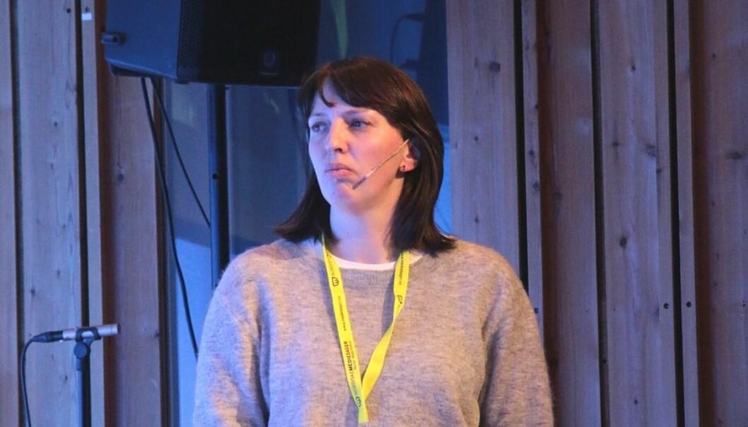 Hanne Waaler Lier på Nordiske Mediedager i 2018.