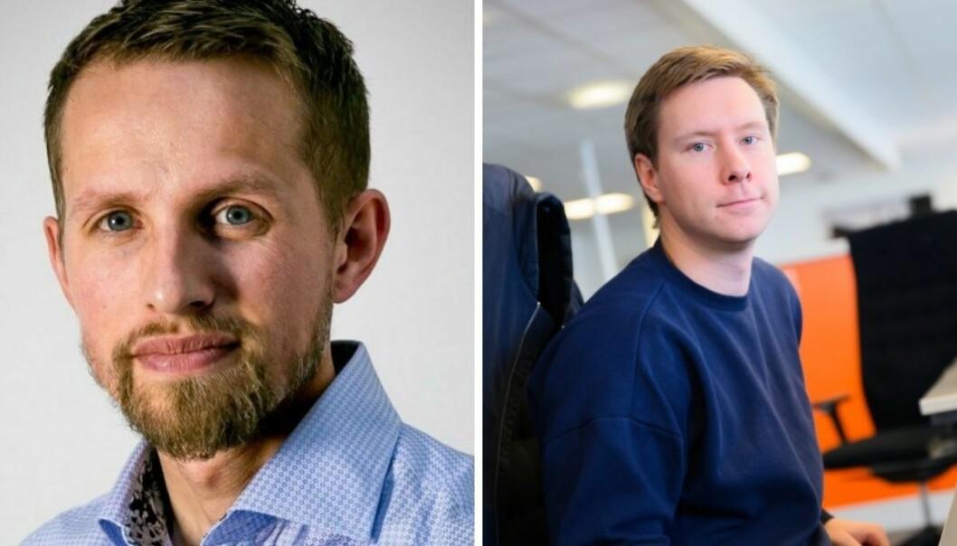 Sjefredaktør i Nordlys, Helge Nitteberg og konstituert sjefsredaktør i Avisa Nordland, Markus Rask Jensen