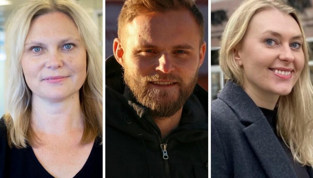 Redaktørene Kristin Stoltenberg, Ola Weel Skram og Vanja S. Holst jobber på hver sin kant av landet. Likevel er gode opplagstall felles for alle tre.