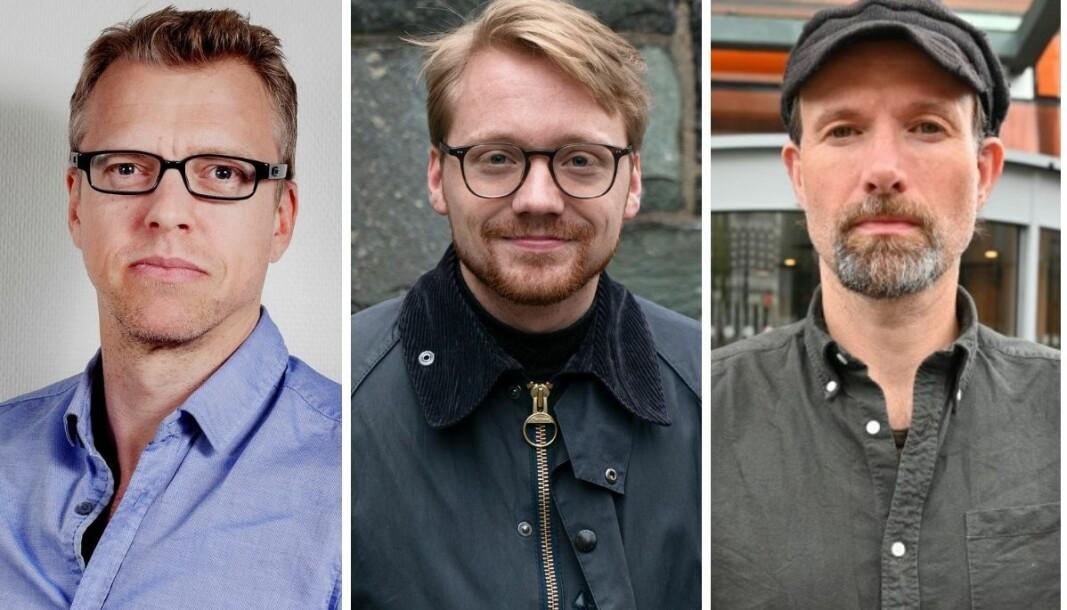 Klubblederne Reidar Spigseth (Dagsavisen), Hans Christian Paulsen (Vårt Land) og Jo T. Gaare (Morgenbladet).