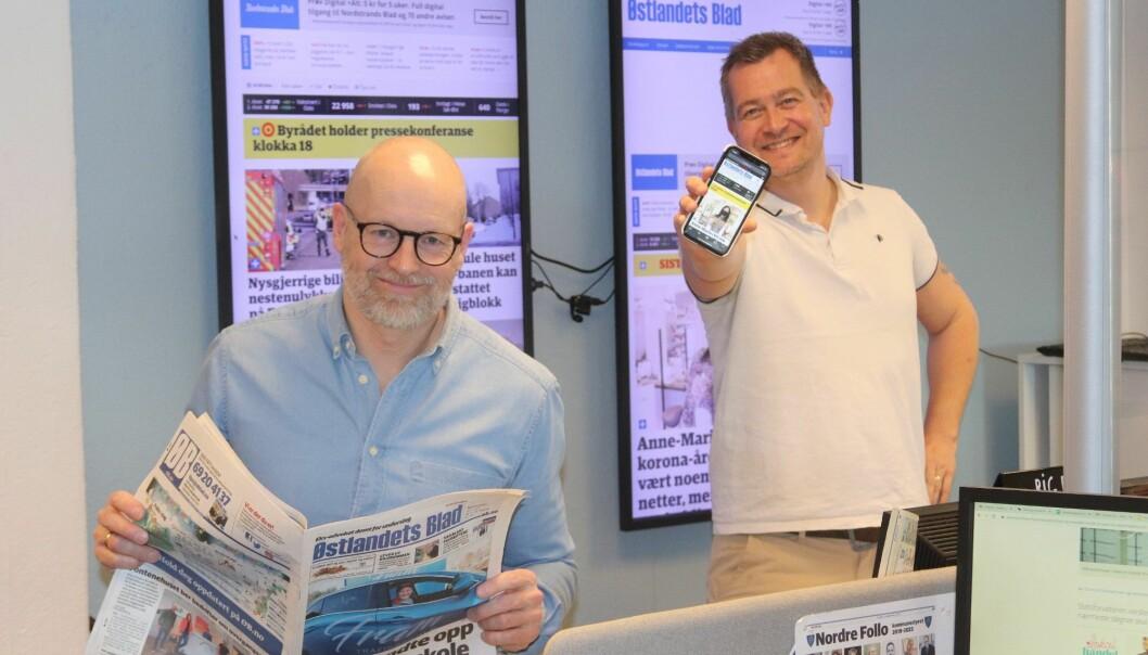 Ansvarlig redaktør i ØB, Martin Gray og nyhetsredaktør Anders Nordheim Dahl
