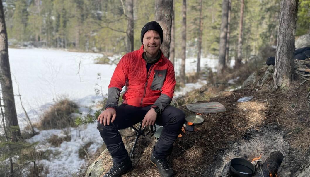 Fredrik Solbu Jullumstrø ser ikke bort fra at det blir noen netter utendørs i påska i år.