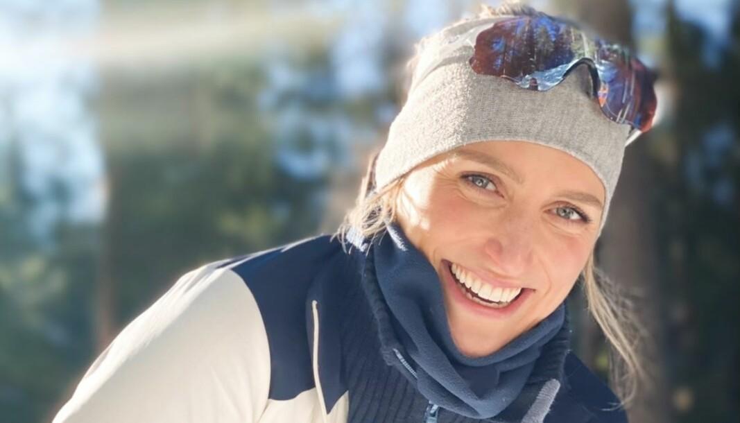 Eurosports Gunnhild Toldnes er glad i å gå på ski. Her avbildet på tur i marka.