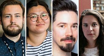 Andreas (29), Isabel (32), Fredrik (33) og Marie (33) har fått fast jobb i NTB