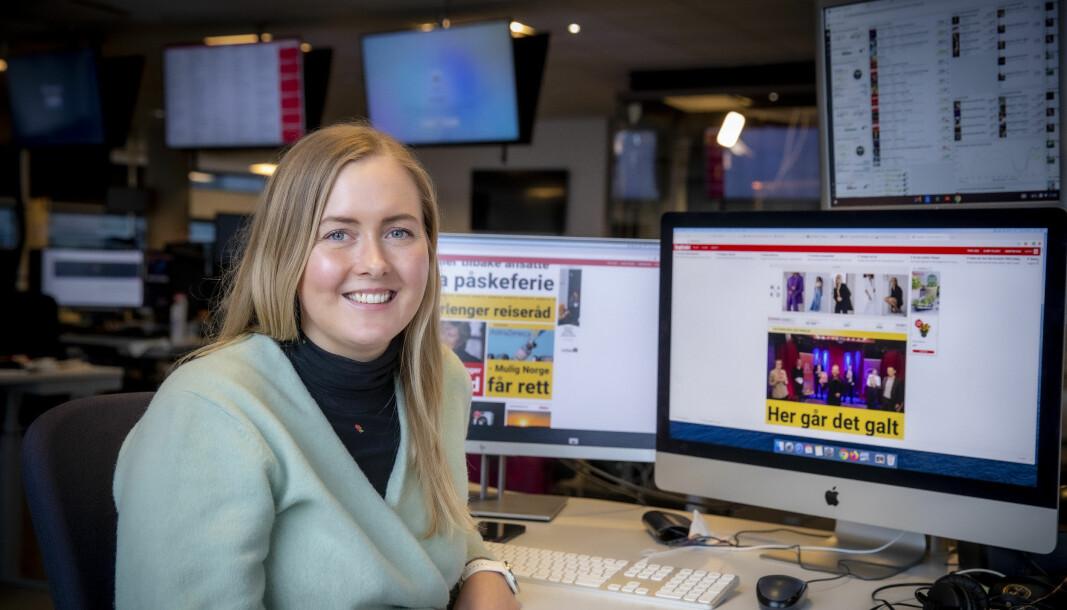 Marthe Ihle blir vaktsjef i Dagbladet. Her avbildet på desken.