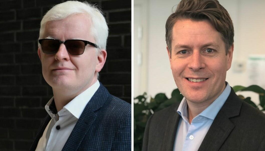 NJ og leder Dag Idar Tryggestad (t.v) er ikke fornøyd med at de fagorganiserte i NRK endte opp som det de kaller «lønnstapere» i 2020.
