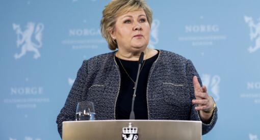 Erna Solberg mener TV 2-debatt er urettferdig
