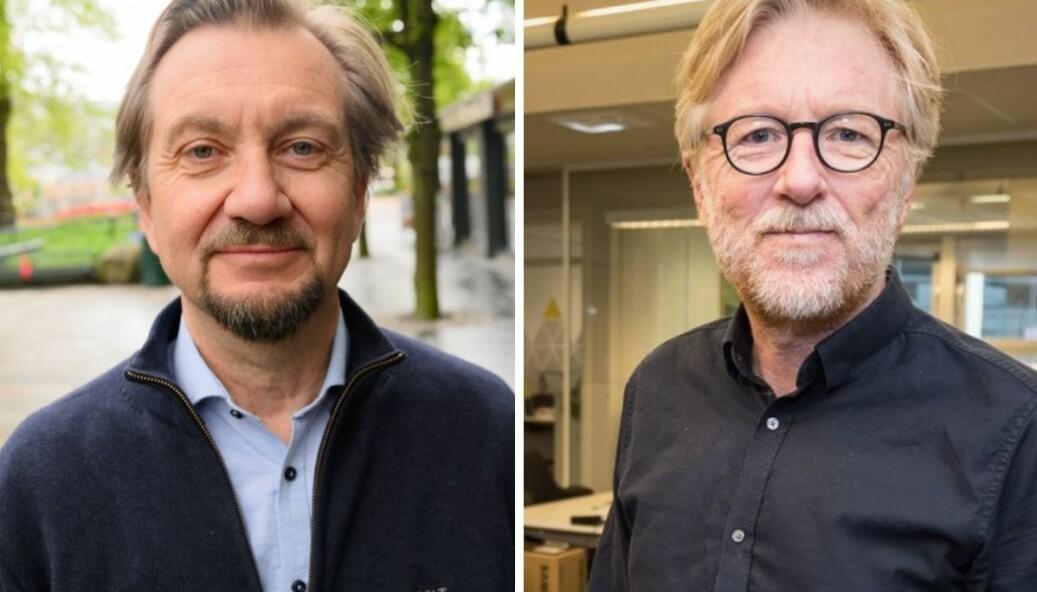 Fagmedarbeider hos Institutt for journalistikk (IJ), Trygve Aas Olsen, stusser over en sak i avisen Firda. Ansvarlig redaktør Kai Aage Pedersen forsvarer saken.