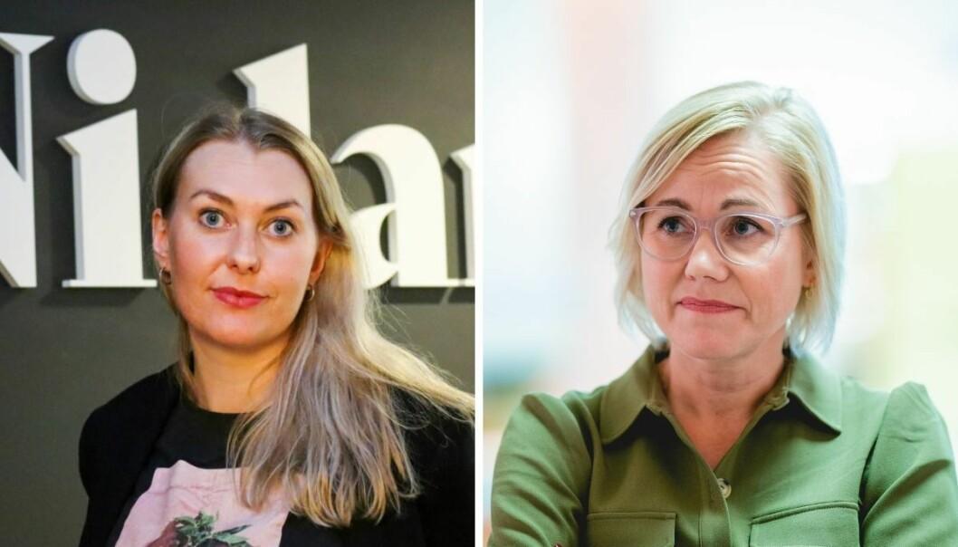 Ansvarlig redaktør i Nidaros, Vanja S. Holst og Leder i Trøndelag Ap, Ingvild Kjerkol