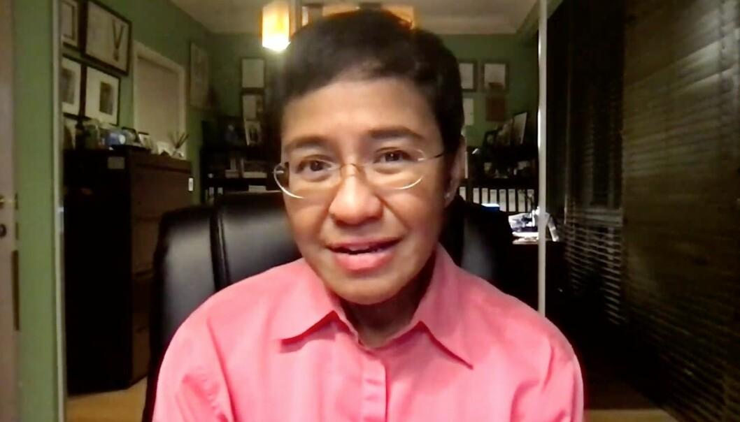 Ansvarlig redaktør og medstifter av den filippinske nettavisen Rappler, Maria Ressa.