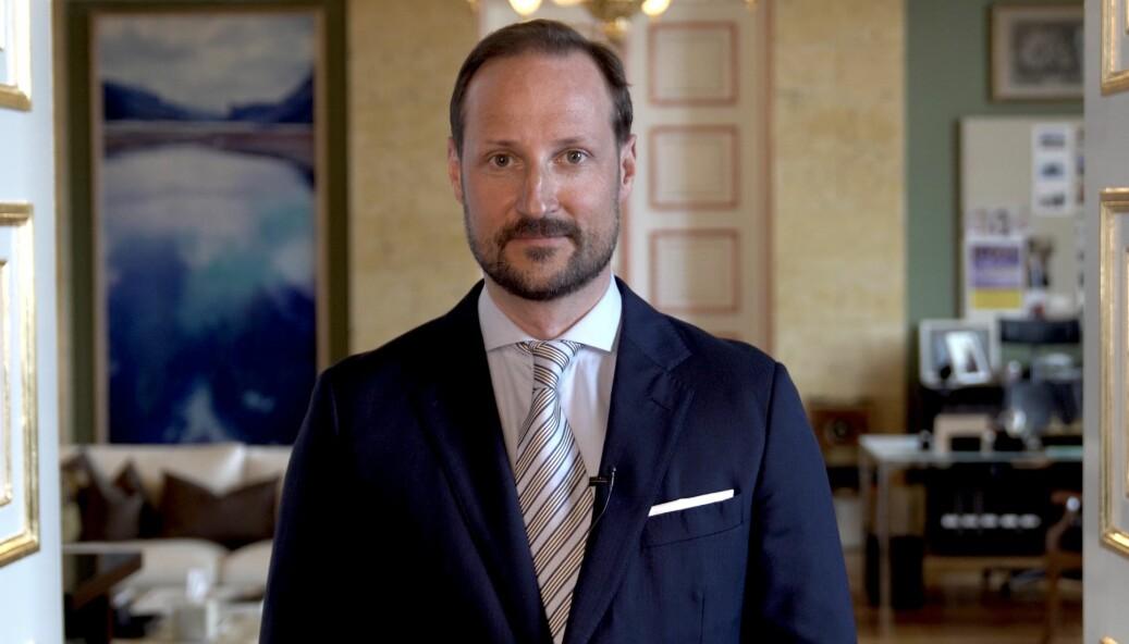 Kronprins Haakon roste norske medier under fredagens SKUP-konferanse.