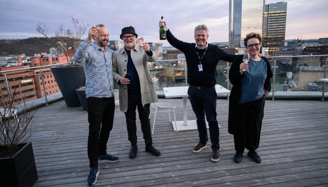 Frode Frøyland, Lars Backe Madsen, Morten Ånestad og Gry Egenes. (Foto: Fartein Rudjord)
